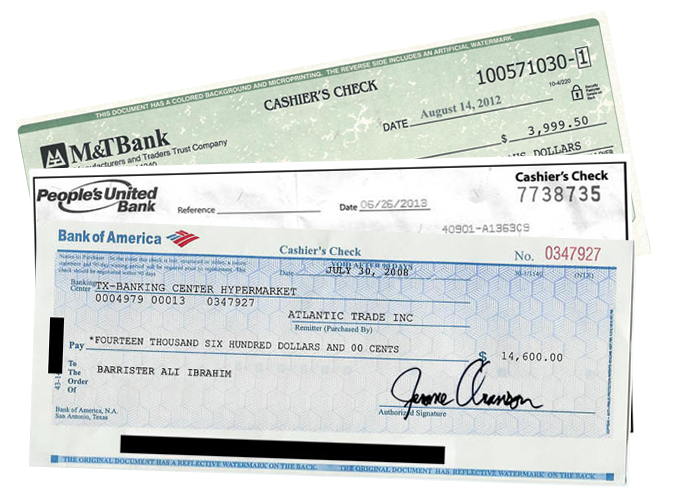 cashier's checks