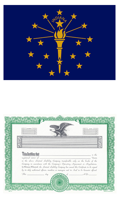 Indiana Lost Stock Certificate